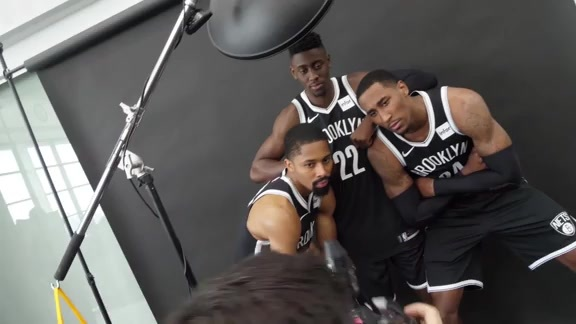 Behind the Scenes at Nets Media Day