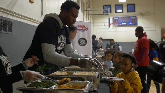 Nets Host Annual Thanksgiving Event
