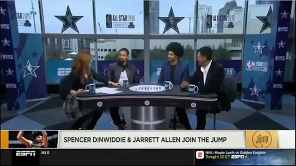 Dinwiddie and Allen join The Jump