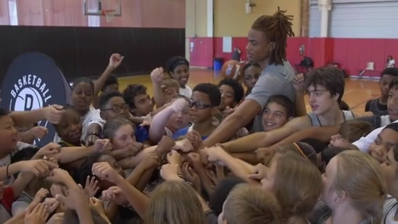 Brooklyn Nets Basketball Camp featuring Nic Claxton