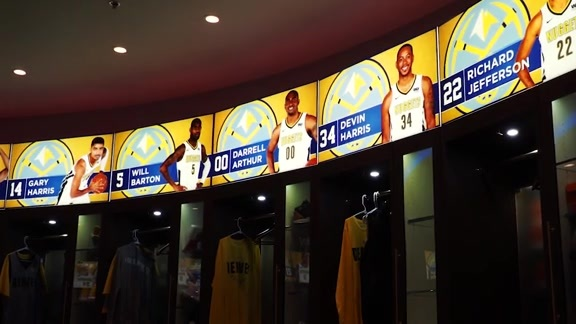 Devin Harris Name Plate in Nuggets Locker Room