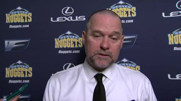 Coach Malone after beating the Grizzlies 108-102.