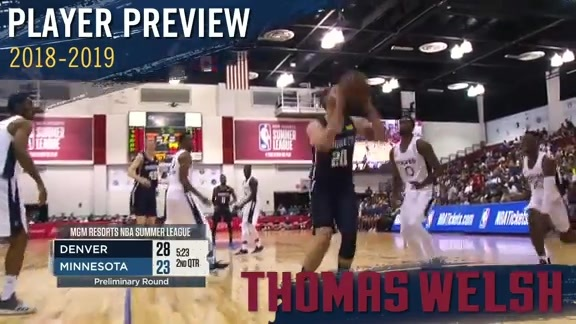 2018-19 Player Previews: Thomas Welsh