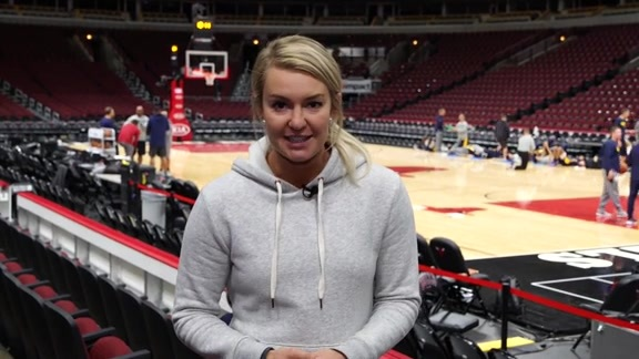 Katy Winge Recaps Practice in Chicago
