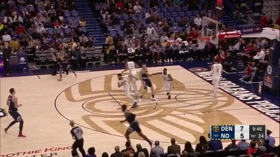 Highlights at Halftime Against Pelicans