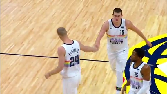 Mason Plumlee Reacts After the Win