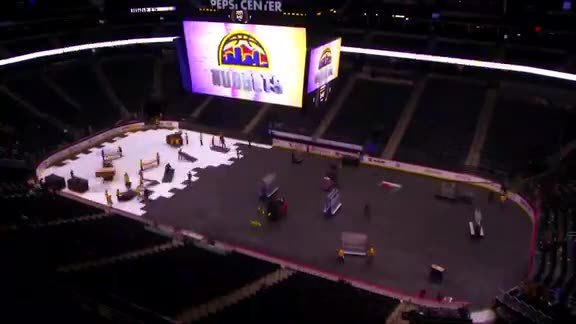 Colorado Avalanche Ice Rink to Denver Nuggets Court Conversion