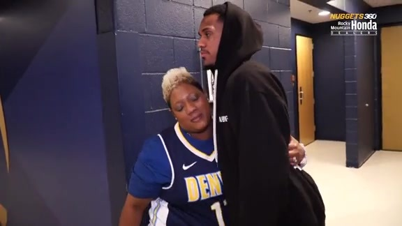 Nuggets 360   Monte Morris and His Mom
