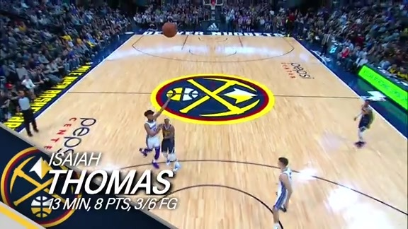 Isaiah Thomas Highlights from the Kings vs. Nuggets