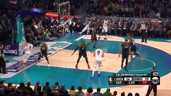 Dunk by Jokić on Team Giannis