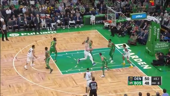 Jokić with 15 Points vs. Celtics