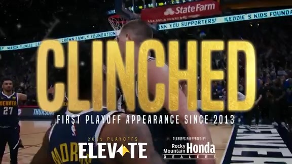 Nuggets Clinch First Playoff Appearance Since 2013