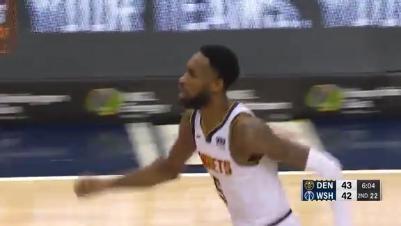 Halftime Highlights: Nuggets at Wizards