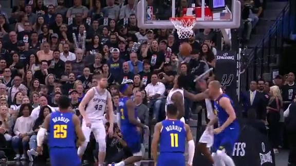 Midgame Highlights: Nuggets at Spurs Game Three