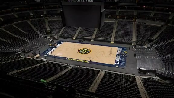 2019 Playoffs Colorado Avalanche Ice to Denver Nuggets Court Conversion