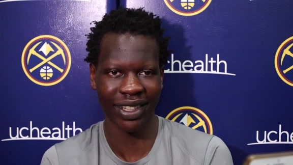 Bol Bol speaks to the media for the first time