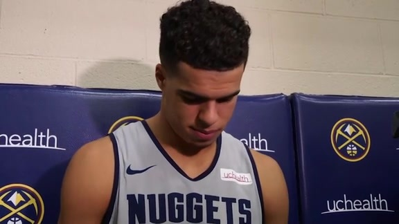 Nuggets practice: Michael Porter Jr. interview (10/16/19)