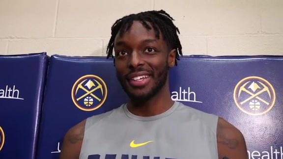 Nuggets practice: Jerami Grant interview (10/16/19)