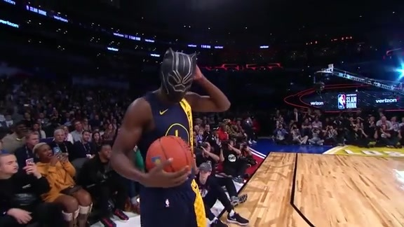 Oladipo Dunks as the Black Panther
