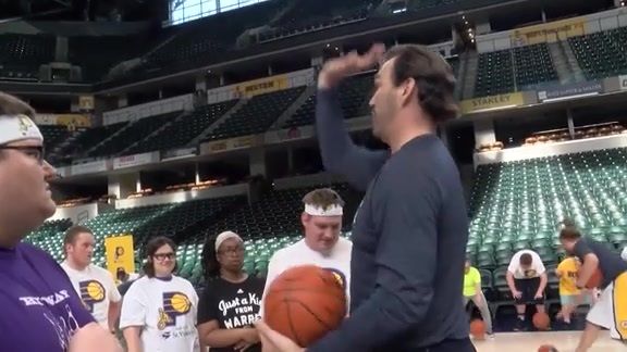 Jr. Pacers Clinic with Special Olympics