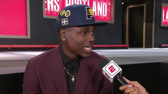Aaron Holiday's First Pro Interview