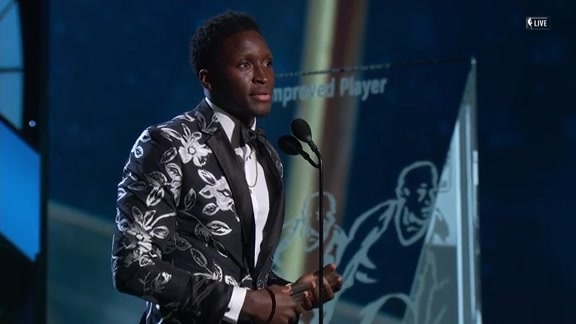 Victor Oladipo Accepts 2018 NBA Most Improved Player Award