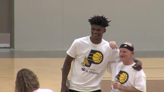 2018 Jr. Pacers Clinic with Special Olympics Indiana