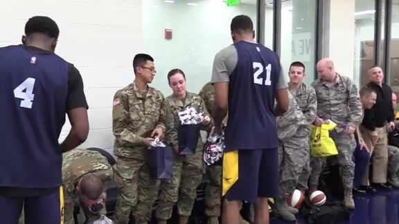 Pacers on Hosting Troops at Practice
