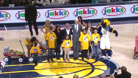 Pacers Honor JAKKS Pacific CEO Stephen Berman for Statewide Toy Giveaway