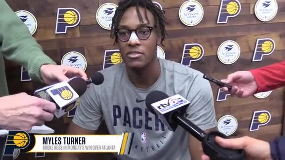 Turner Getting Fitted for Mask, Pacers Preparing for Road Trip