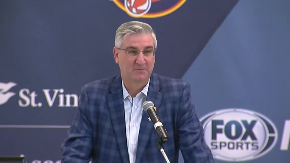 Press Conference: Gov. Holcomb Proclaims Saturday Basketball Day