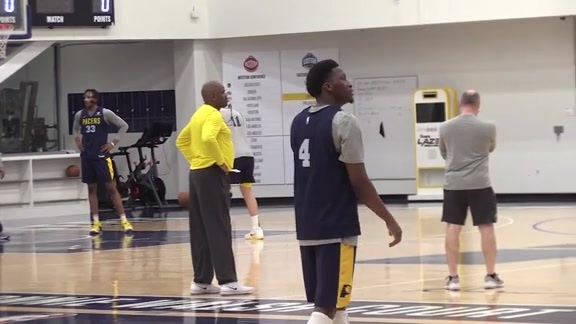 Practice: Pacers Reflect on 76ers Game; Look Ahead to Mavs