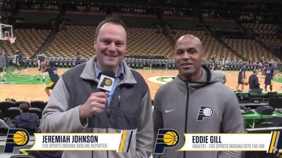 Practice Report: Johnson and Gill on Pacers' Adjustments for Game 2