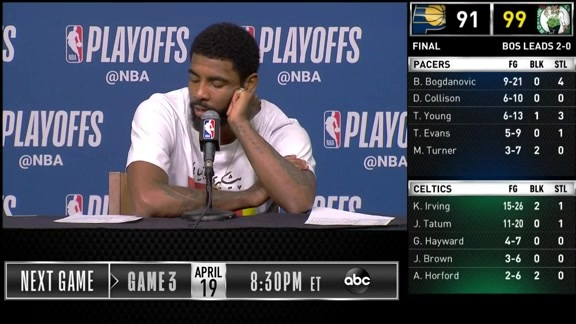 Postgame: Kyrie Irving Game 2 Press Conference - April 17, 2019