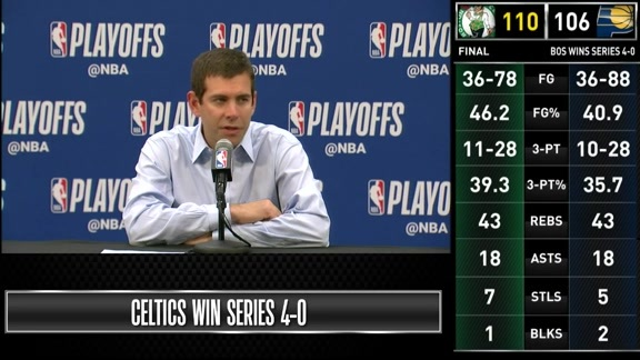 Postgame: Brad Stevens Game 4 Press Conference - April 21, 2019