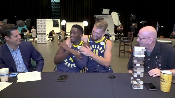 2019 Media Day: Domantas Sabonis and Victor Oladipo