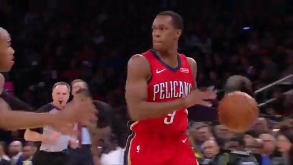 Rondo Hits Davis with the Alley-Oop