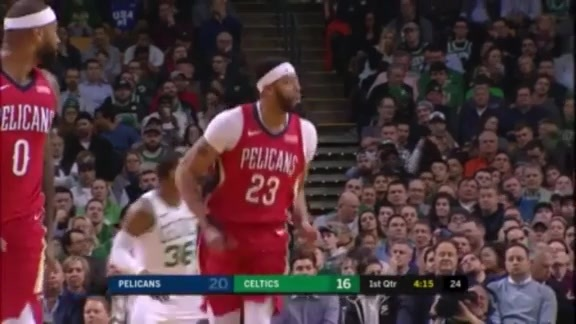 Anthony Davis has 17 in the First Quarter