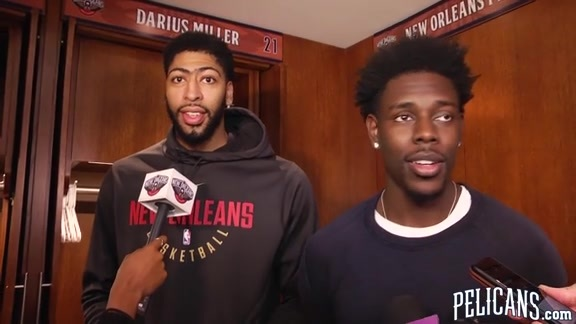 Pelicans-Grizzlies Postgame: Anthony Davis & Jrue Holiday 1-20-18