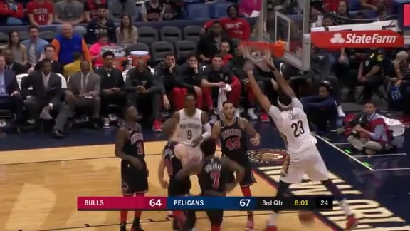 Anthony Davis Soars Over the Bulls