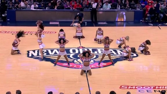 Pelicans Dance Team First Half Performance 01-22-18