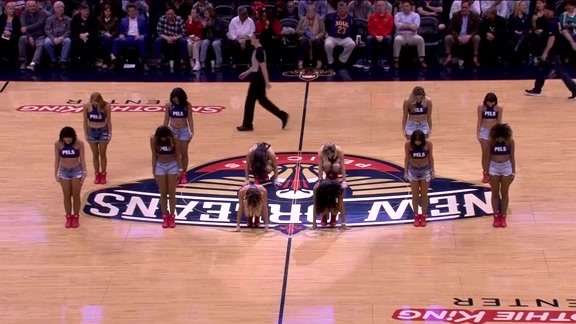 Pelicans Dance Team Second Half Performance 01-22-18
