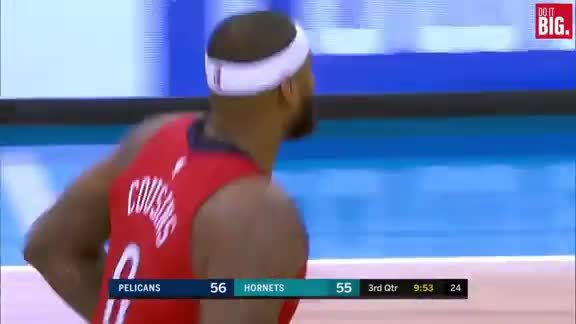 Cousins throws down the hammer