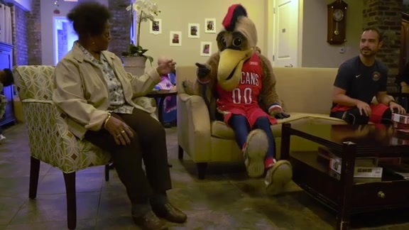 Pelicans join in NBA Fit Week activities with St. Margaret's Assisted Living