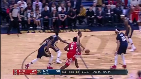 Anthony Davis Swats Eric Gordon