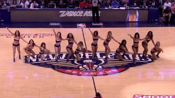 Pelicans Dance Team Performance 01-28-18