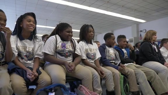 Pelicans team up with Chevron to host Mathletes Reward Assembly