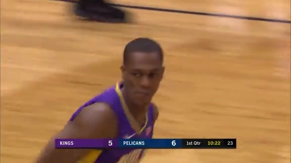 AD steal leads to Rondo fast break