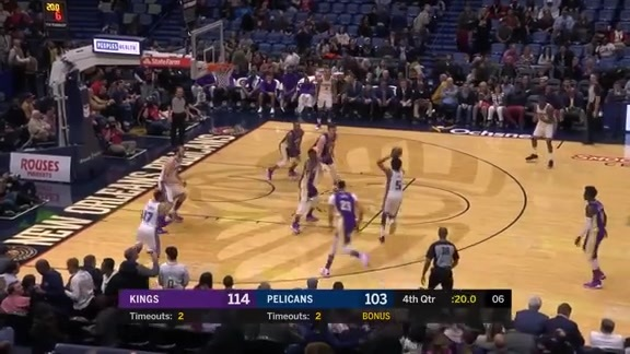Anthony Davis scores 23 vs Kings