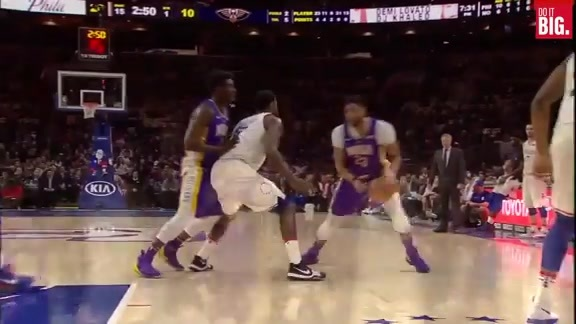 Anthony Davis with the pretty And-1